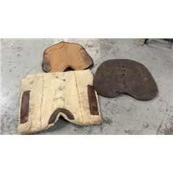 3 Used Saddle Pack Pads