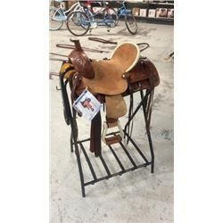 "13"" Double T Rough Out Youth Saddle"