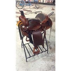 """16"""" Montana Saddlery Round Skirt Saddle"""