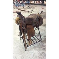 "16"" Bulldogging Saddle"