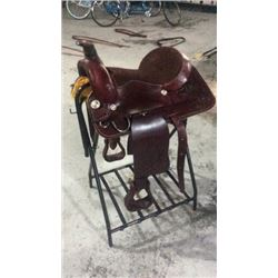 "15"" Burgundy Color Saddle"