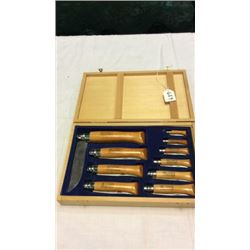 10pc Opinel Knife Set Made In France