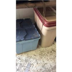 2 Plastic Storage Containers