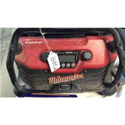 Milwaukee radio powered by Rockford fosgate