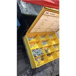 """""""Kar"""" metal hardware box (full of hardware)"""