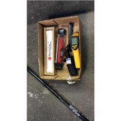 Box lot of tools ( snap on torque screwdriver,
