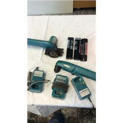 """Box lot of """"Makita"""" cordless power tools"""