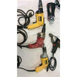 Lot Of 3 Drywall/deck Screw Guns, 1drill And A