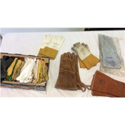 Box lot of gloves