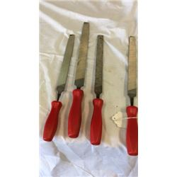 "Set of 4 ""Snap-on"" files"