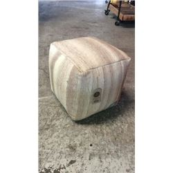 Wool Pouf By Barrel Shack