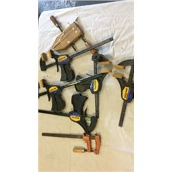"Lot of 7 clamps ""quick grip"" "" jorgenson"""