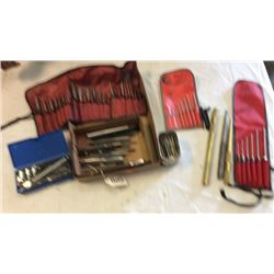 "Box lot of ""snap- on"" ""Mac tools"" punches and"