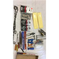 Chain saw chains and tools, miscellaneous tools
