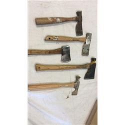Lot of 5 hammer hatchets