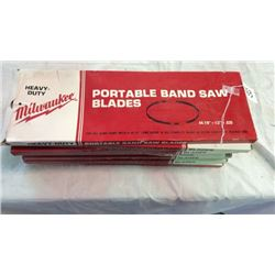 """Milwaukee"" portable band saw blades qty:9"