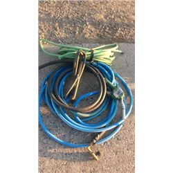 Gas pump handle and hose