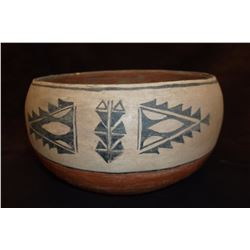 "Cochiti Bowl- c. 1960- Ceremonial Paint- 5"" H X 9"" W"