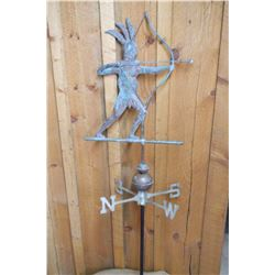 "Brass Indian Weather Vane- 56"" H"