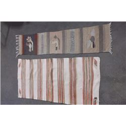 "Wool Runner- 62"" X 14""- Wool Horse Blanket 60"" X28""- Has Hole"