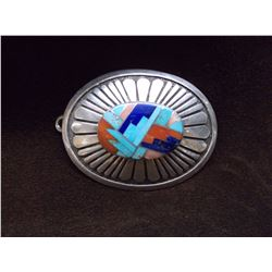"Zuma Turqoise Belt Buckle-3""  X 2.25"""