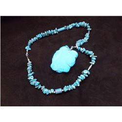 Kingman Turquoise Necklace- 14.5""