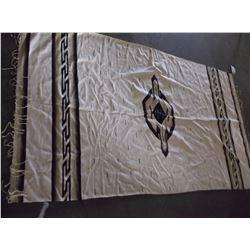 "Native American Textile Rug- 60"" X 44"""