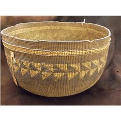 "Hupa Basket- c. late 1800's- Trinity River Hupa Tag Still Attached- 6"" H X 10"" W"