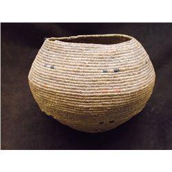 "Alaskan Basket- Prince Edward Island- C. 1880- 6.5"" H X 8.5"" W"