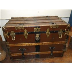 "Spokane Trunk and Grip Co. Trunk- Flattop- 38""W X 22"" D X 26"" H"
