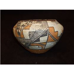 "Acoma Bowl- C. 1920- Formerly in Wolfe Collection of Kansas- Repaired- 4.5""H X 6.5""W"