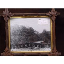 "Government Trappers Cabin Photo- Sun River MT- Frame 17""L X 15""H"