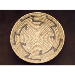 "Papago Basket- Constructed of Yucca and Bear Grass- C. 1950- 2.5""H X 10""W"