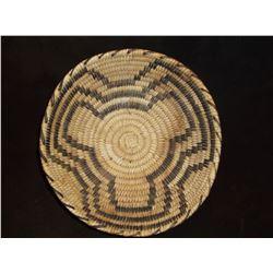 """Papago Basket- Devils Claw Pattern- C. 1970- 3 """"H X 9.5"""" W"""