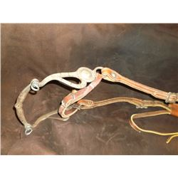 Marked Fleming Silver Inlaid Bit- Santa Maria Cheek- Salinas Mouth- Slobber Bar- One Ear Head Stall