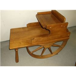 2 Wagon Wheel End Tables and a Wagon Wheel Coffee Table