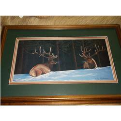 "Signed Leroy Henderson Print- 97/950- Frame 28""L X 18""H"