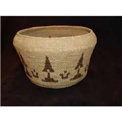 California Basket- C. 1900- Made from Willow and Pine Needles- Museum Quality Mission Basket
