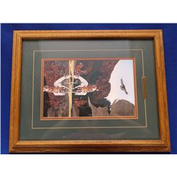 "Bev Doolittle Print- ""THE GOOD OMEN""- Frame 20.5""T X 16.5""W"