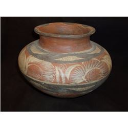 Potosi Pueblo Olla Pot- C. 1900- Polychrome Decoration- Cupped Base- Fine Condition