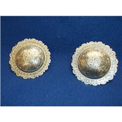Unmarked Silver Conchos- Scalloped Edges- 2.5""