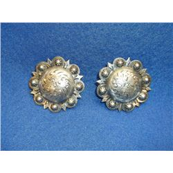 Marked Idem Sterling Silver Mexico Conchos- Scalloped Edges- 1.75""