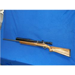 Ruger M77 Mark II Rifle- .220 Swift- Tiger Wood- Bull Barrel- Tasco 8X32 Scope- #782-06252