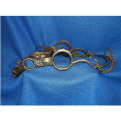 Unmarked Silver Inlaid Bit- Circle Cheek- Desuenado Copper Inlaid Mouth- Slobber Bar
