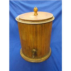 """Wooden Porcelain Lined Water Cooler- Lid- 16.5""""H X 14.5""""W"""