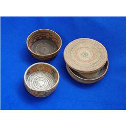 """3 Northwest Poly Chrome Baskets-2.25""""H X 8""""W- 3""""H X 8.5""""W- 2.5""""H X 5.5""""W"""