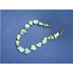 """Turqoise Sterling Necklace- 16.5"""" L"""