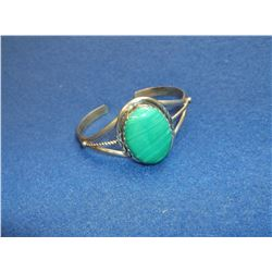 Marked Sterling Turquoise Bracelet