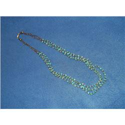 "Navajo Heishi 3 Strand Turqoise Necklace- 14""L"