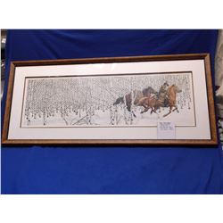 "Signed and Numbered Bev Doolittle Print- ""Sacred Ground""- 9201/69996- 21""H X 48""W"